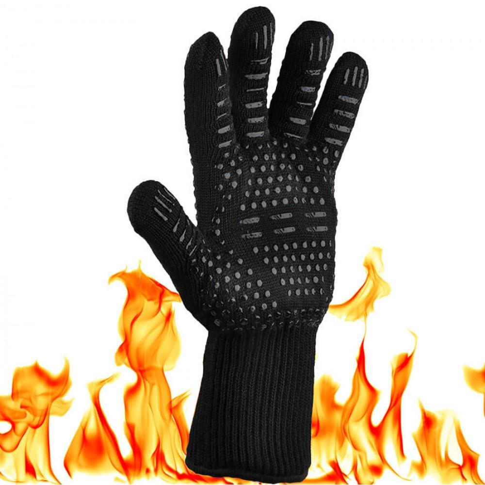 Жаропрочная перчатка для гриля LoveGrill черная