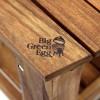 Керамический гриль Big Green Egg XL в столе из акации  фото_2