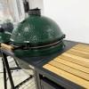 Керамический угольный гриль Big Green Egg XLARGE в каркасном столе с тумбой фото_2
